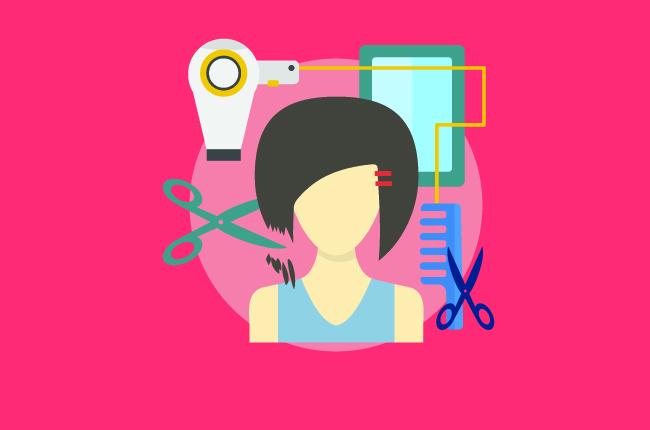 Работа парикмахера. Очень интересно.